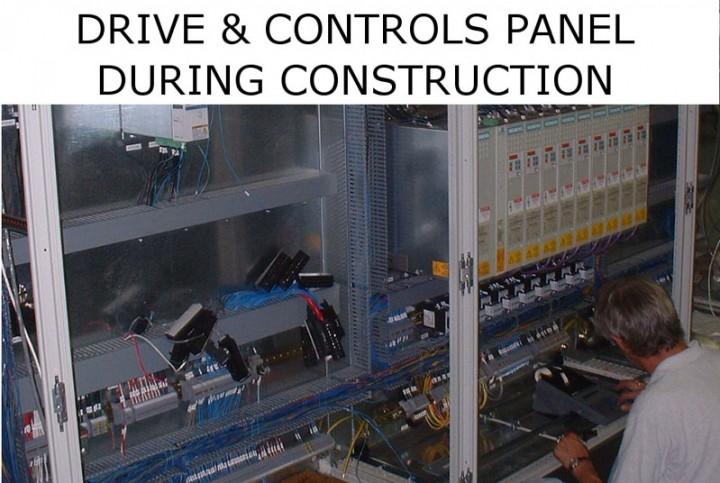 Drive and Controls Panel During Construction